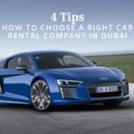 How to choose a car rental company in Dubai,UAE